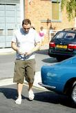David Walliams Shops At Grocers, Melrose and Morgan In Primrose Hill Carrying Three Full Bags Of Fine Food