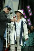 Chevy Chase and his wife