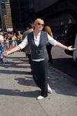 Ellen DeGeneres arrives outside Ed Sullivan Theatre for...