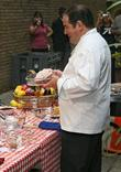 American celebrity chef Emeril Lagasse filming a cooking...
