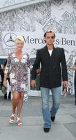 Ivana Trump and Rossano Rubicondi Leave The Badgley Mischka Fashion Show