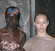 Alek Wek and Sasha Pivovarova Mercedez-Benz Fashion Week...