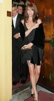 George Clooney and Sarah Larson leaving Dan Tanas restaurant