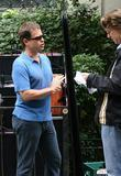 Greg Kinnear and Director David Koepp Filming On The Movie Set Of 'ghost Town'