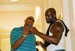 Alonzo Mourning with Shaquille O'Neal, aka Shaq, of...