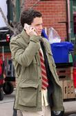 Penn Badgley at the film set for 'Gossip Girl' on Vernon Boulevard in Queens