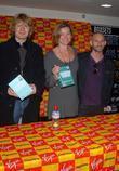 Julian Rhind-tutt, Pippa Haywood and Virgin