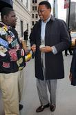 Judge Greg Mathis Buys Candies From Kids While Arriving At His Manhattan Hotel