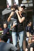 Heidi Klum, family at the Grove, West Hollywood