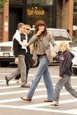 Helena Christensen, son Mingus Lucien out and about in the West Village