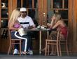 Ice-T and CoCo have lunch with a friend...