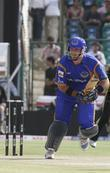 Rajasthan Royals' Graham Smith Plays A Shot During The Match Against Kolkata Knight Riders At The Sawai Mansingh Stadium