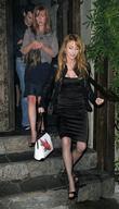 Jane Seymour and her dancing partner Tony Dovolani leaving Koi Restaurant
