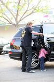 Johnny Hallyday and his daughter