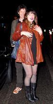 Milla Jovovich and Her Fiance Paul W.s. Anderson Celebrate Milla's 32nd Birthday At Koi Restaurant