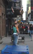 Jumping stunt and David Letterman
