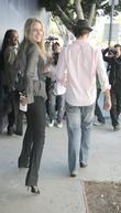 Leelee Sobieski and her boyfriend walk to their car after shopping on Robertson Blvd.