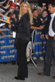 Faith Hill and David Letterman