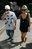 Lindsay Lohan and Boyfriend Riley Giles Walking Hand In Hand As They Enjoy The Weather In Downtown Los Angeles