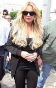 Lindsay Lohan out and about on Robertson Boulevard...