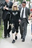 Madonna leaving her gym. A journalist approached the...