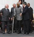 Richard Attenborough, Ken Livingstone, Nelson Mandela and Gordon...