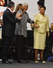 Gordon Brown, Nelson Mandela and Graca Machel Unveiling...