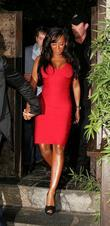 Melanie Brown (aka Mel B) leaving Koi restaurant...