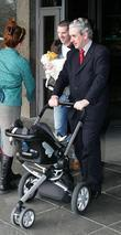 Graham Quinn Leaves Rte Studios Carrying His Daughter Ava's Things With The Help Of His Driver