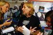 American anti-war activist Cindy Sheehan joins organizers of...
