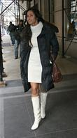 Padma Lakshmi, Model and Judge On Bravo's Tv Show 'top Chef' Leaves Her Hotel In Manhattan