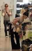 Paris Hilton and Alex Vaggo Do Some Last Minute Christmas Shopping At Kitson On Robertson Boulevard