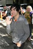 Pete Wentz of Fall Out Boy outside ABC...