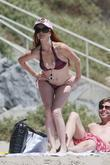 Phoebe Price, a friend enjoying the nice weather on the beach