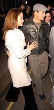 Angelina Jolie and Brad Pitt leaving their hotel...