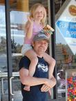 Ricky Schroder and his daughter