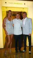 Penny Lancaster, Theo Randall and Rod Stewart