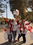 English Fans Descend On Paris For The Rugby World Cup Final Between England