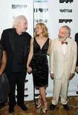 Maria Bello, Robert Towne and Mike Leigh