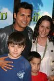 Adam Beach and family Special screening of Dreamworks'...