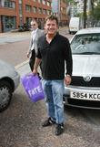 Sid Owen leaves the ITV studios after appearing...