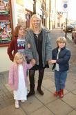 Anneka Rice and children