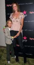 Amber Valletta and son Auden The Star Lounge...