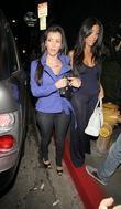 Kim Kardashian and friend