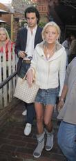 Tara Reid and Her Boyfriend Leaving The Ivy Restaurant