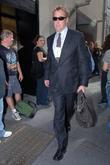 John C. McGinley leaving Rockefeller Plaza after appearing...