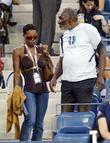 Venus Williams and Richard Williams at day three...