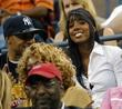 Kelly Rowland watching the tennis in the audience...