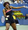 Serena Williams competing in day three of The...