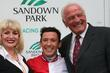 Faith Brown and Frankie Dettori